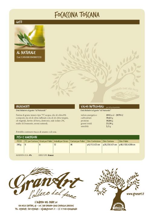 Catalogo Focaccina Granart