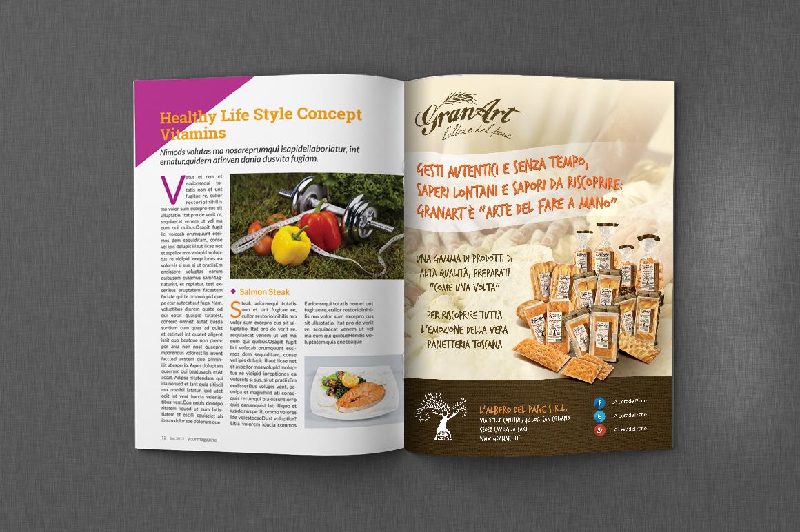 Pubblicità riviste di settore per Granart