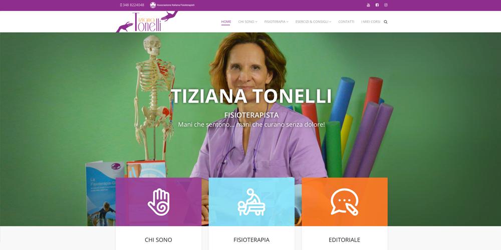 Tiziana Tonelli Fisioterapista sito Joomla