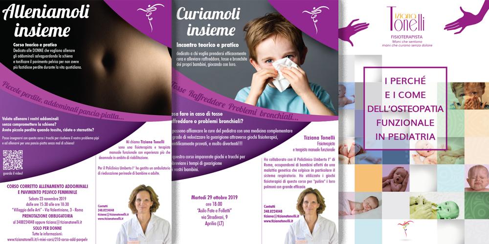 Tiziana Tonelli Fisioterapista locandine e libri