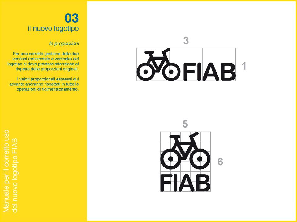 Manuale logo FIAB: proporzioni