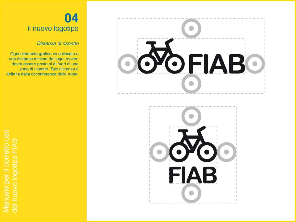 Manuale logo FIAB: distanze di rispetto