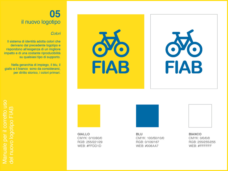 Manuale logo FIAB: codici colore
