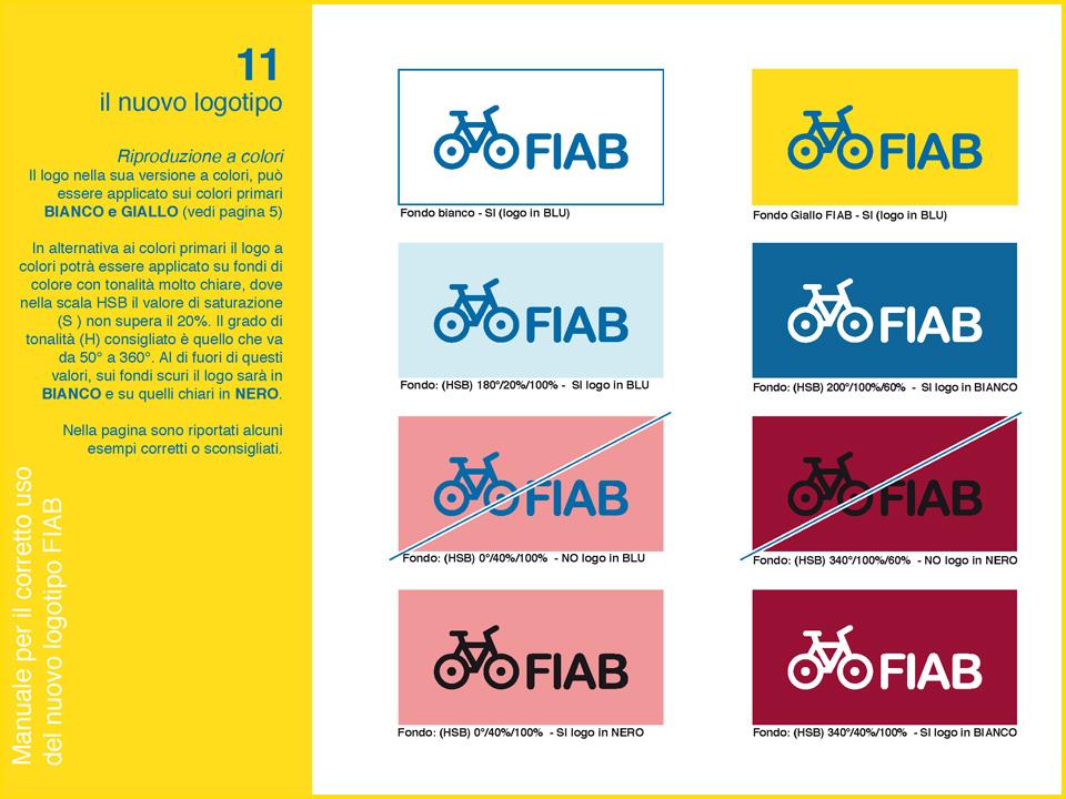 Manuale logo FIAB: applicazione del colore