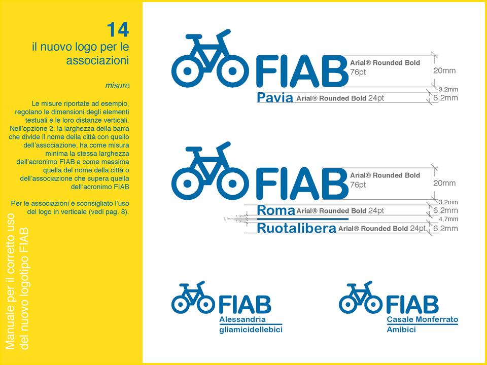 Manuale logo FIAB: declinazione per le associazioni