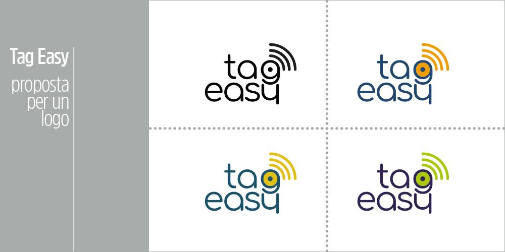 Logo Tag Easy. Prove colore