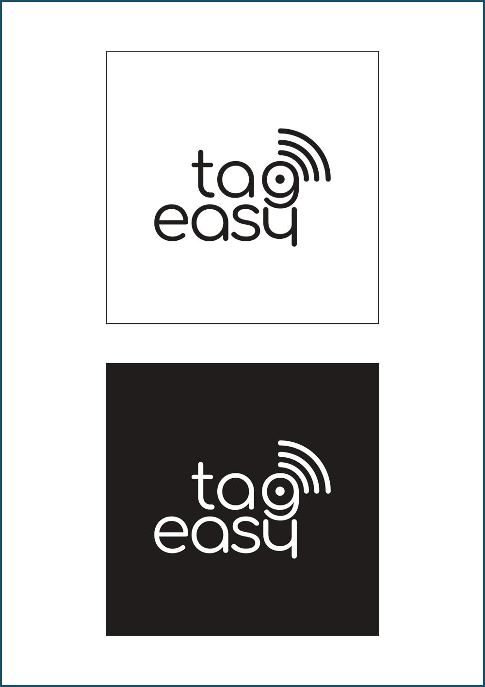 Logo Tag Easy. Manuale: negativo, poisitivo