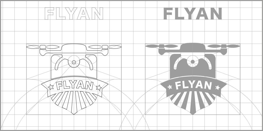 Flyan studio del logo