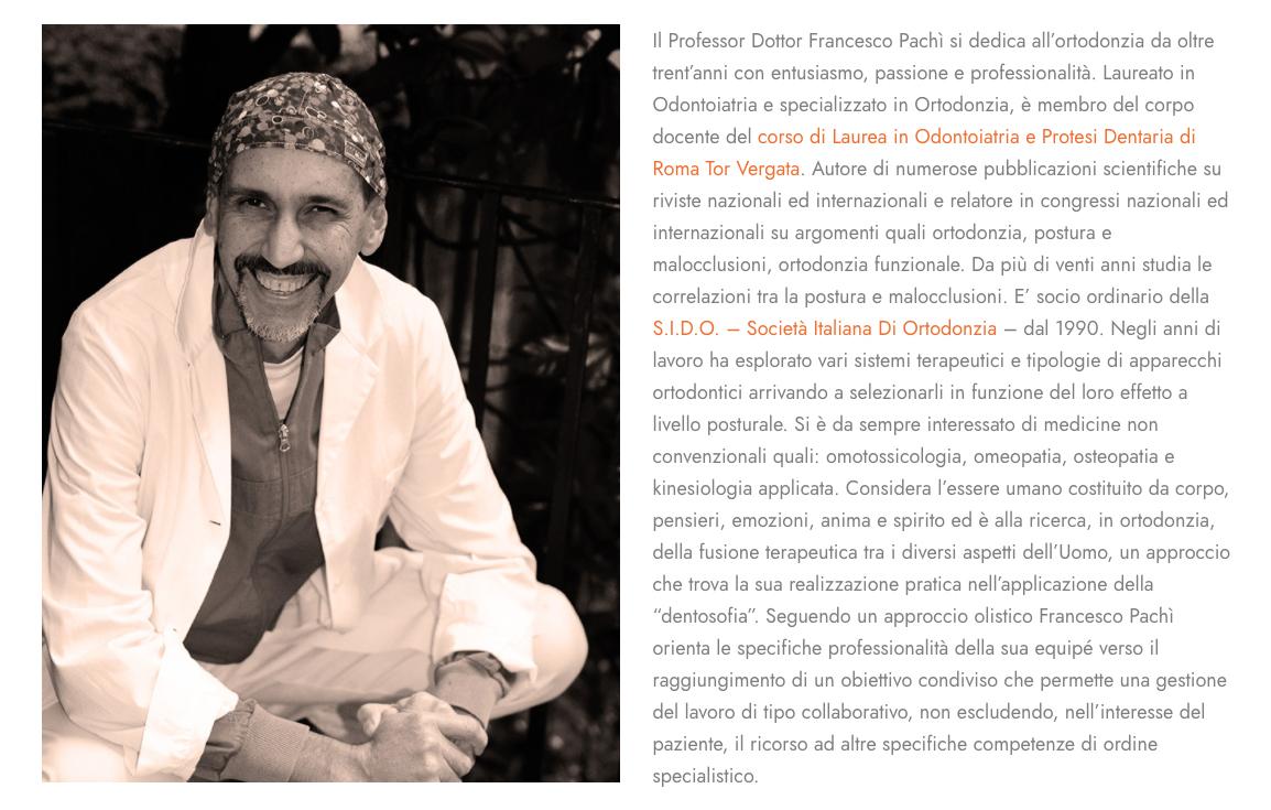 Dott. Prof. Francesco Pachì